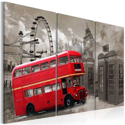 Tableau | Red bus | 60x40 | |
