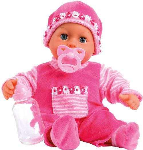 Bayer poupée bébé avec accessoires First Words 38 cm noir trois pièces