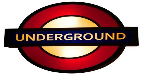 HOMEMANIA Lampe Murale Fun - Applique - Underground - pour Séjour, Chambre - Noir, Rouge en Métal, Plastique, 43 x 8 x 35 cm, 2 x E14, 40 W