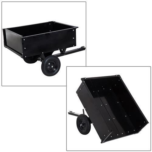 Chariot jardin/remorque basculante pour tracteur 150L x 83l ...