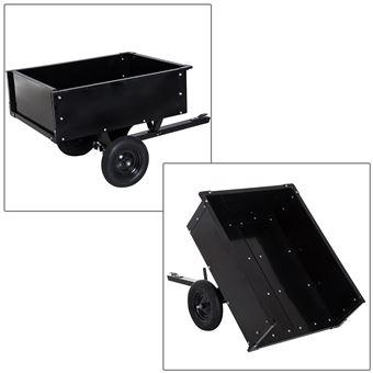 Chariot jardin/remorque basculante pour tracteur 150L x 83l x 78H cm ...
