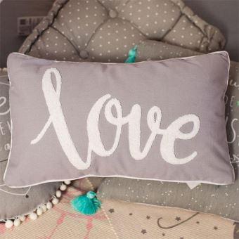Coussin Love Gris 30x50 cm - Décoration Chambre Enfant Garçon Fille ...