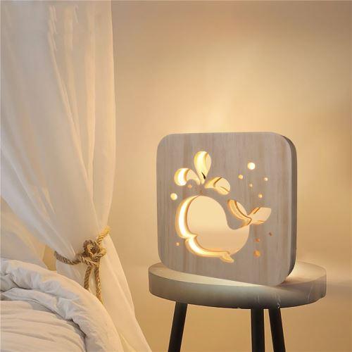 Creative Craft Décoration Lampe en bois Led Lumière Veilleuse Lampe de table wedazano445
