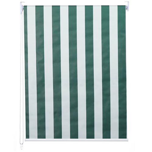 Store à enrouleur pour fenêtres, HWC-D52, avec chaîne, avec perçage, isolation, opaque, 80 x 230 ~ vert/blanc