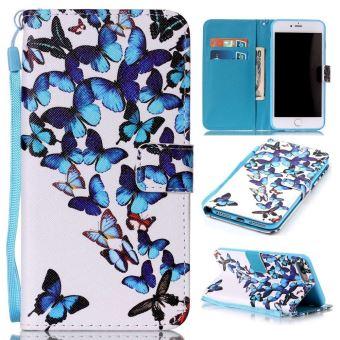 coque iphone 6 portefeuille bleu