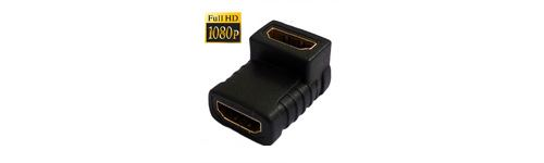 (#23) HDMI Angle Coupler (Female to Female) - 90 Degree (Gold Plated)(Black)