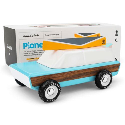 Petites voitures et mini modèles rétro classiques en bois Candylab Americana Véhicules design pour enfants et adultes - Pioneer Classic M1000