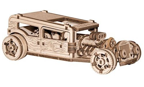 Wooden City kit de maquette Hot Rod 17 cm bois naturel 141-pièces