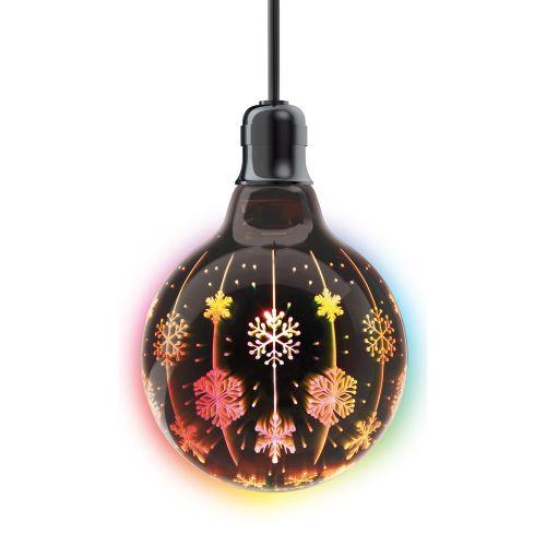 AMPOULE LED G125, CuLot E27, flocons
