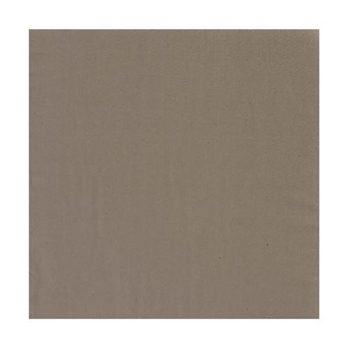Serviette de Table Unie taupe 50 x 50 cm Winkler