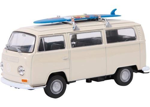 Small Foot Modèle de voiture Autobus Volkswagen T2 Surfboard Metal