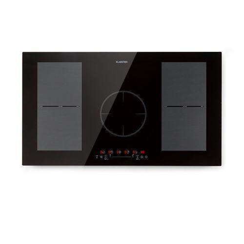 Klarstein Delicatessa 90 Flex - Table de cuisson à induction 5 zones, 7000 W max. , 9 niveaux - Noir