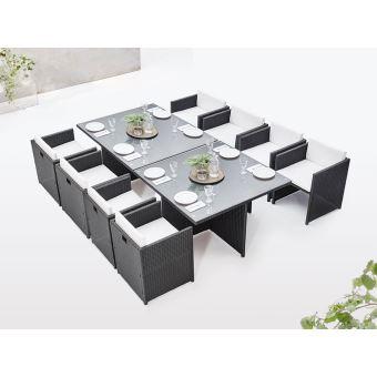 BOBOCHIC Family - Salon de jardin encastrable modulable 8 ...