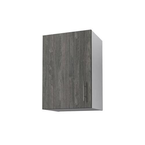 OBI Meuble haut de cuisine L 40 cm - Decor teck marine et blanc