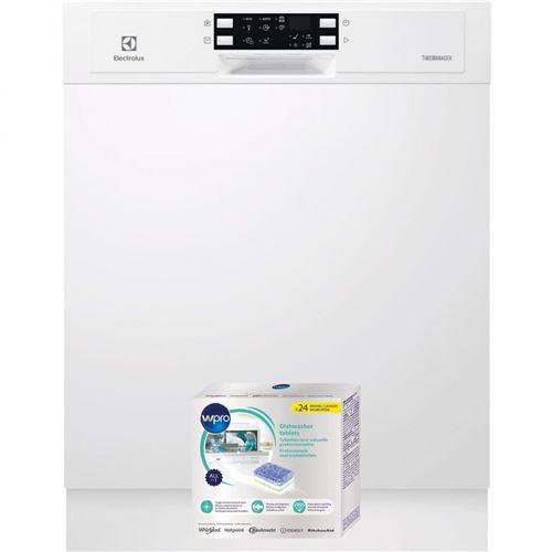 lave-vaisselle intégrable electrolux 1101673 55 blanc airdry technology : ce système améliore les performances de séchage grâce à une ouverture automatique de la porte en fin de cycle de séchage afin d'accélérer le processus d'évaporation au contact de l'