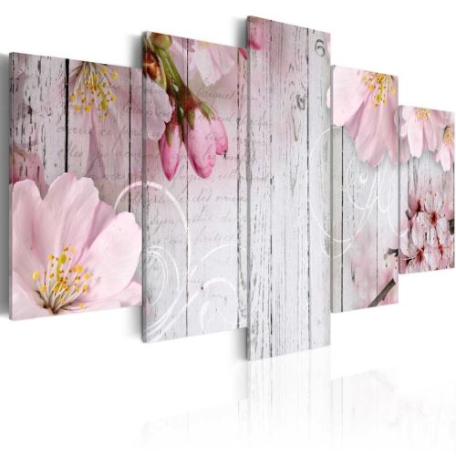 Tableau - Délicatesse florale .Taille : 100x50