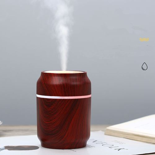 USB LED à ultrasons Cans Humidificateur Essential Huile Aroma Diffuseur Atomi
