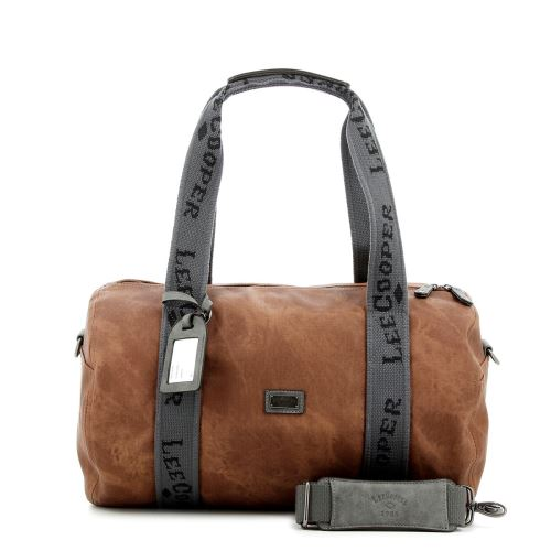 Sac week-end aspect usé Hobo Lee Cooper Caramel