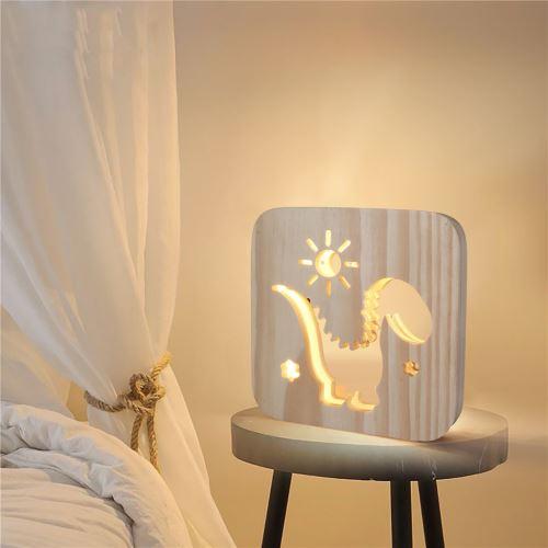 Creative Craft Décoration Lampe en bois Led Lumière Veilleuse Lampe de table wedazano447