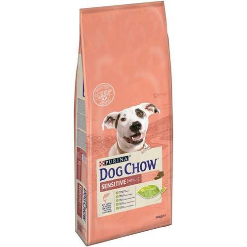 Dog Chow Croquettes - Avec Du Saumon - Pour Chien Adulte Sensible - 14 Kg
