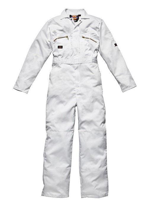 Combinaison de peintre DICKIES Redhawk - Blanc - 65% polyester 35% coton 260Gr - Taille 50 - WD4839