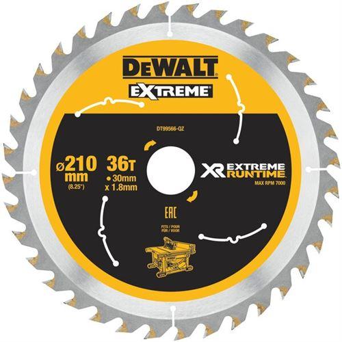 DeWalt XR Extreme Runtime pour lame de scie statique, 1 pièce, 210/30 mm 36 WZ/FZ, dt99566 circulaire QZ