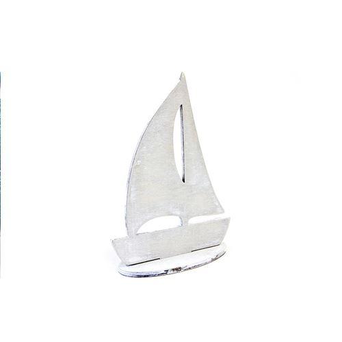 voilier déco blanc 15 x 11 cm