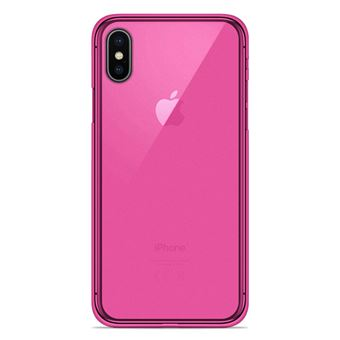 coque apple silicone rose iphone xs