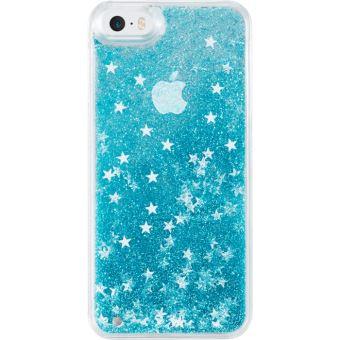 (P) Bling Bling Coque Pailletée pour Apple iPhone 5/5s/5C/SE, Bleu Neige - The Kase Paris