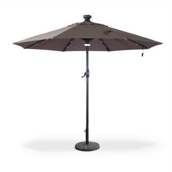 parasol solaire led 300cm agusta taupe lectrique alice 39 s garden achat prix fnac. Black Bedroom Furniture Sets. Home Design Ideas