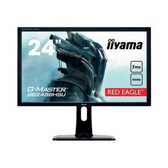 "iiyama G-MASTER Red Eagle - LED-monitor - 24"" (24"" zichtbaar) - 1920 x 1080 Full HD (1080p) - TN - 350 cd/m² - 1000:1 - 1 ms - 2xHDMI, DVI-D, DisplayPort - luidsprekers - zwart"
