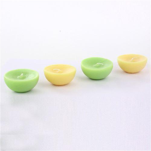 Lot de 4 bougies flottantes parfumées - Melon et mangue