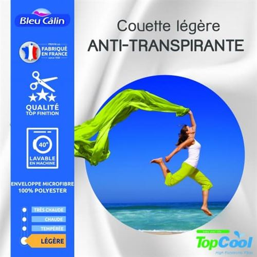 Couette anti transpirante 200 gr/m² 200 x 200 cm pour lit 120 x 190 cm