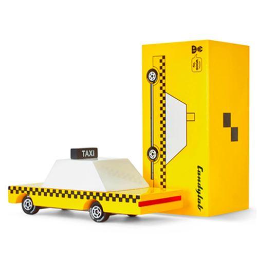 Petites voitures et mini modèles rétro classiques en bois Candylab CandyCar Véhicules design pour enfants et adultes Candycar - Yellow Taxi