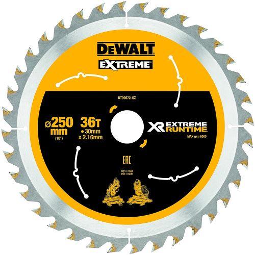DeWalt XR Extreme Runtime Lame de scie circulaire statique, 1 pièce, 250/30 mm 36 WZ/FZ, dt99572 de QZ