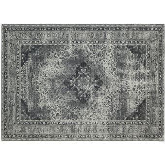 Tapis Style Oriental En Coton Gris Sarouk Achat Prix Fnac