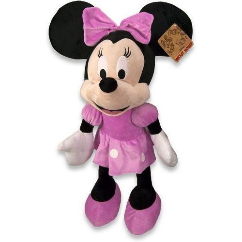 Peluche Minnie Mouse 43 cm XL Collector 90e Anniversaire rose