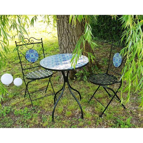 L\'Héritier Du Temps - Salon de jardin avec sublime mosaïque antique ...
