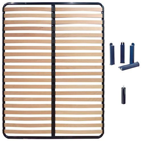 ALTOLATTES - Pack Sommier 2x20 Lattes 130x190cm + Pieds bleus + Pied central