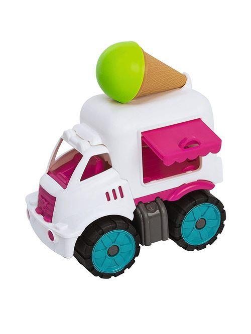 Big 800055794 – Power Worker Mini Glace Chariot Enfant véhicule, Blanc