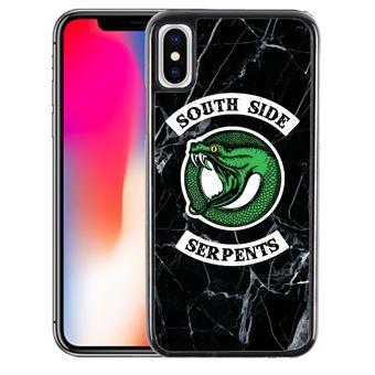 Coque pour iPhone XR riverdale south side serpent marbre