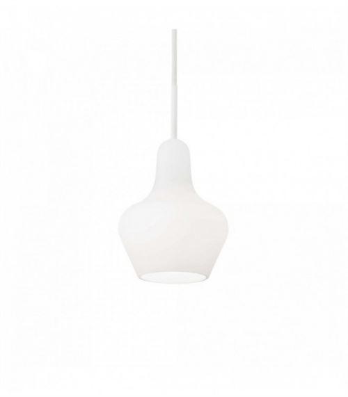 Suspension Blanche LIDO 1 ampoule Largeur 15 Cm
