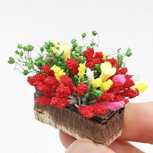 d/écoration de paysage 2 x 2 x 3 cm Milisten Lot de 7 mini plantes en pot miniatures miniatures pour pot de fleurs pour maison de poup/ée