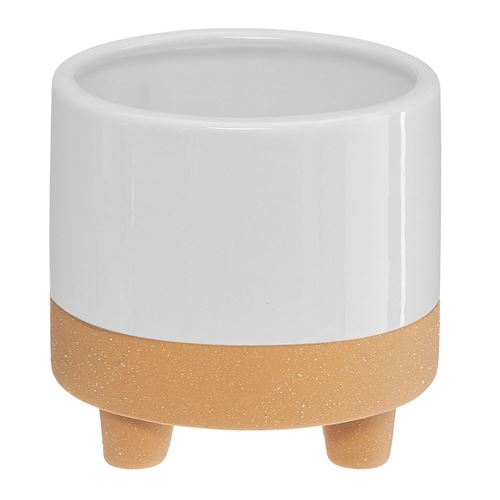 Cache pot design scandinave Slow - Diam. 10 cm - Blanc