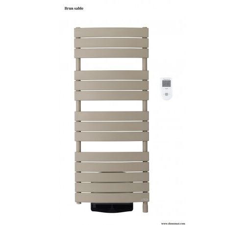 Radiateur sèche-serviettes Riviera Digital - 500+1000 W - Avec soufflerie - Brun sable