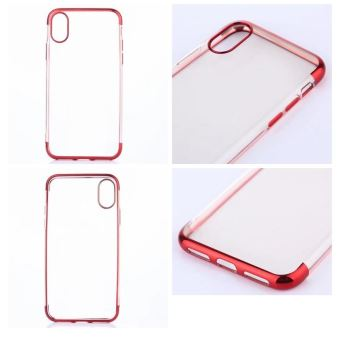 coque iphone x transparente rouge