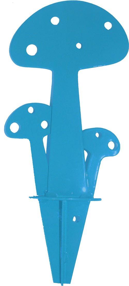 Iki - Champignon à planter Bleu en Métal 15cm