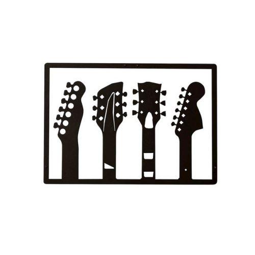 3510 Sur Décoration Murale En Metal Guitare Noir Art Maison