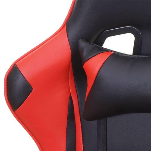 ~ noirrouge maximale Chaise D25fauteuil de bureau HWC gamercharge de 150kg similicuir PkZiuOXT