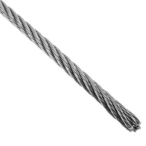 Câble en acier inoxydable de 4,0 mm. Bobine de 25 m